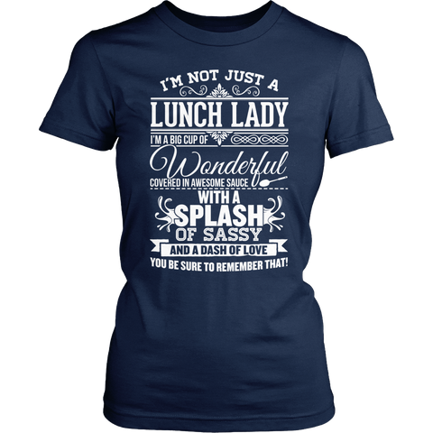 Lunch Lady - Big Cup - District Made Womens Shirt / Navy / S - 1