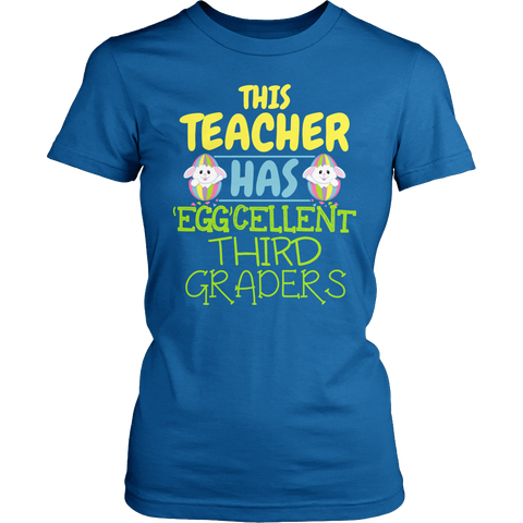 Third Grade - Eggcellent - District Made Womens Shirt / Royal / S - 1