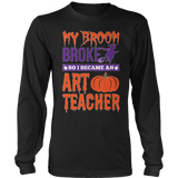 Art - My Broom Broke - District Long Sleeve / Black / S - 7