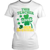 Math - St. Patrick's Mathematicians - District Made Womens Shirt / White / S - 6