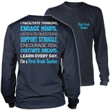 First Grade - Engage Minds - District Long Sleeve / Navy / S - 10