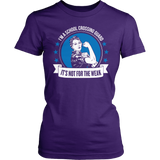 Crossing Guard - Not For The Weak - District Made Womens Shirt / Purple / S - 5
