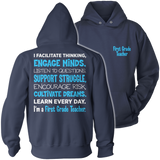 First Grade - Engage Minds - Hoodie / Navy / S - 13
