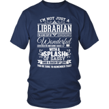 Librarian - Big Cup - District Unisex Shirt / Navy / S - 5