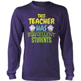 Teacher - Eggcellent - District Long Sleeve / Purple / S - 10