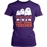 First Grade - Ghosts - District Made Womens Shirt / Purple / S - 3
