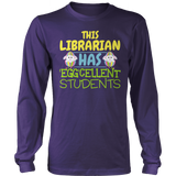 Librarian - Eggcellent - District Long Sleeve / Purple / S - 10