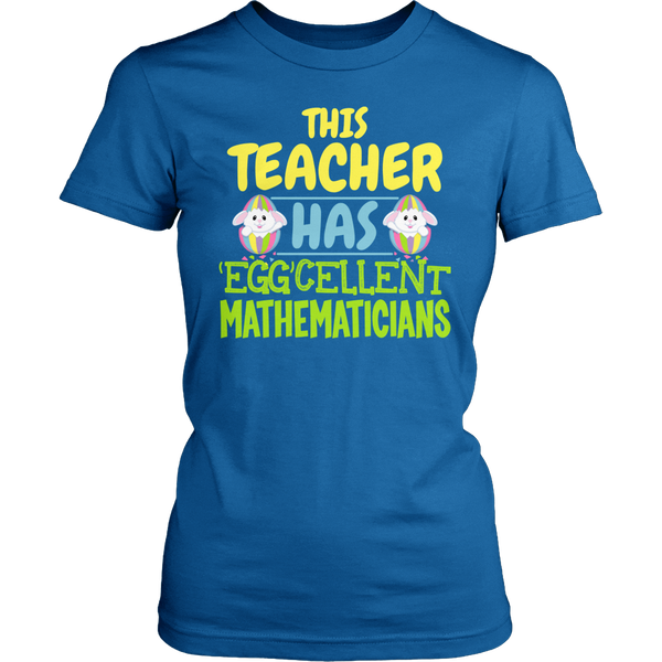 Math - Eggcellent - District Made Womens Shirt / Royal / S - 1