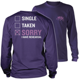 Theater - Single. Taken. - District Long Sleeve / Purple / S - 11
