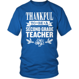 Second Grade - Thankful - District Unisex Shirt / Royal Blue / S - 11