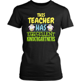 Kindergarten - Eggcellent - District Made Womens Shirt / Black / S - 4