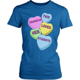Counselor - Candy Hearts - District Made Womens Shirt / Royal / S - 5