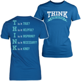 Teacher - THINK - District Made Womens Shirt / Royal / S - 9
