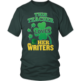 English - St. Patrick's Writers - District Unisex Shirt / Dark Green / S - 1