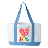 First Grade - Full Heart - White / Light Blue - 2