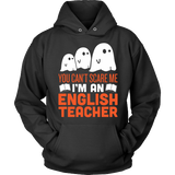 English - Halloween Ghost - Hoodie / Black / S - 4