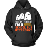 School Bus Attendant - Halloween Ghost - Hoodie / Black / S - 4