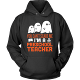 Preschool Teacher - Halloween Ghost - Hoodie / Black / S - 4