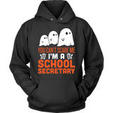 Secretary - Halloween Ghost - Hoodie / Black / S - 4
