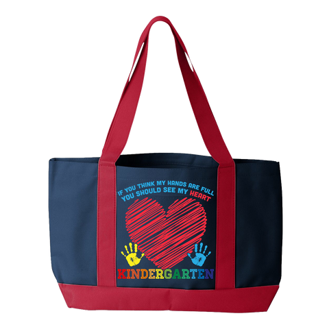 Kindergarten - Full Heart - Navy / Red - 1