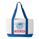Librarian - Booked Weekend - White / Royal - 3