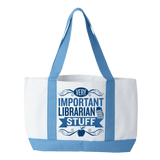 Librarian - Important Stuff - White / Light Blue - 2