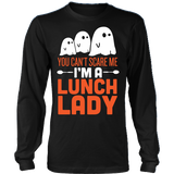 Lunch Lady - Halloween Ghost - District Long Sleeve / Black / S - 3
