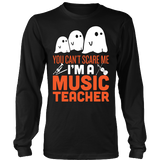 Music - Halloween Ghost - District Long Sleeve / Black / S - 3
