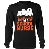 Nurse - Halloween Ghost - District Long Sleeve / Black / S - 3