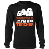 Teacher - Halloween Ghost - District Long Sleeve / Black / S - 3