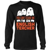 English - Halloween Ghost - District Long Sleeve / Black / S - 3