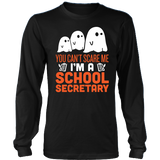 Secretary - Halloween Ghost - District Long Sleeve / Black / S - 3