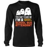 School Bus Attendant - Halloween Ghost - District Long Sleeve / Black / S - 3