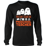 Preschool Teacher - Halloween Ghost - District Long Sleeve / Black / S - 3
