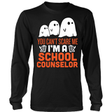 Counselor - Halloween Ghost - District Long Sleeve / Black / S - 3