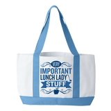 Lunch Lady - Important Stuff - White / Light Blue - 2