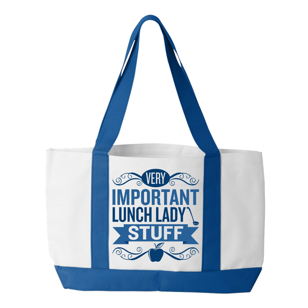 Lunch Lady - Important Stuff - White / Royal - 1