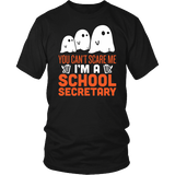 Secretary - Halloween Ghost - District Unisex Shirt / Black / S - 2