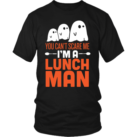 Lunch Man - Halloween Ghost - District Unisex Shirt / Black / S - 1