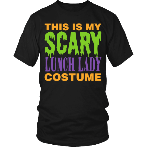 Lunch Lady - Halloween Costume - District Unisex Shirt / Black / S - 2