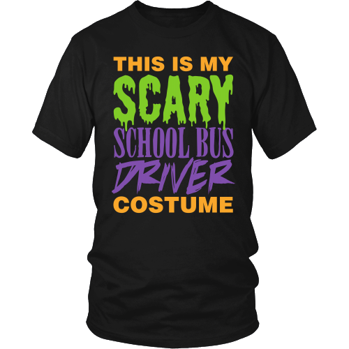 School Bus Driver - Halloween Costume - District Unisex Shirt / Black / S - 1