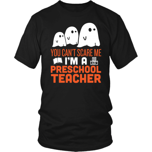 Preschool Teacher - Halloween Ghost - District Unisex Shirt / Black / S - 2