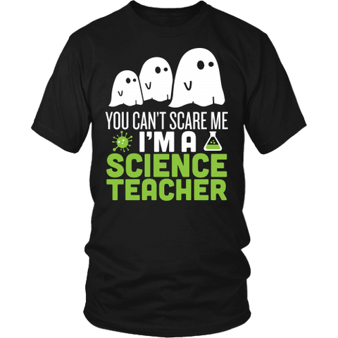 Science - Halloween Ghost - District Unisex Shirt / Black / S - 1
