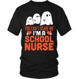 Nurse - Halloween Ghost - District Unisex Shirt / Black / S - 2