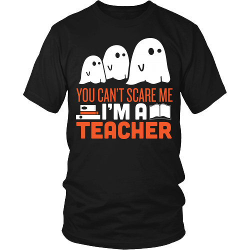 Teacher - Halloween Ghost - District Unisex Shirt / Black / S - 2