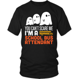 School Bus Attendant - Halloween Ghost - District Unisex Shirt / Black / S - 2