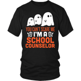 Counselor - Halloween Ghost - District Unisex Shirt / Black / S - 2