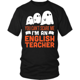 English - Halloween Ghost - District Unisex Shirt / Black / S - 2