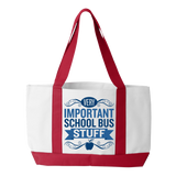 School Bus Driver - Important Stuff - White / Red - 3