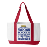 School Bus Driver - Skipping - White / Red - 3